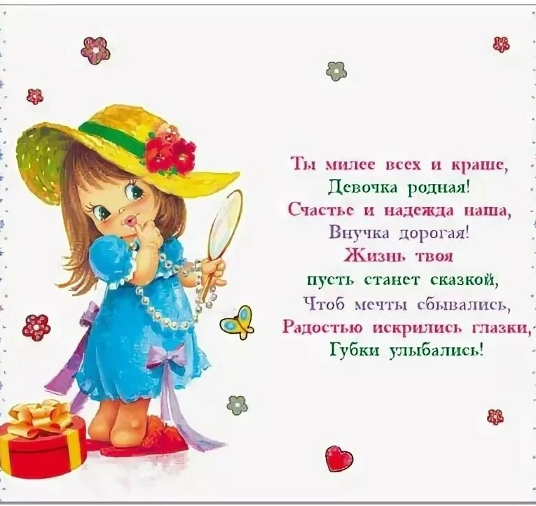Открытки с днем рождения детям по годам для внучки