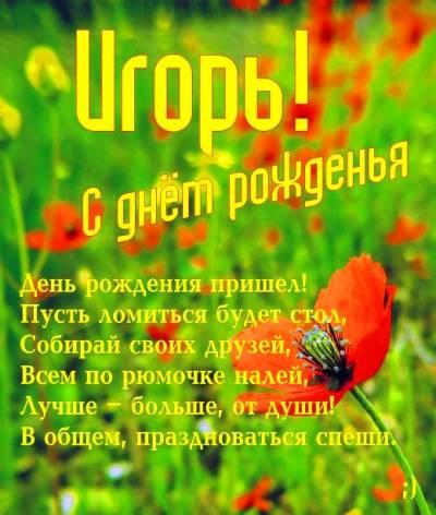 Мармеладная открытка С Днем Рождения Игорь купить 3