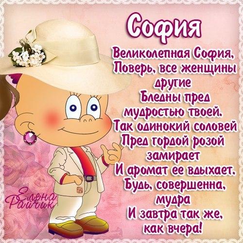 С днем рождения поздравления сони
